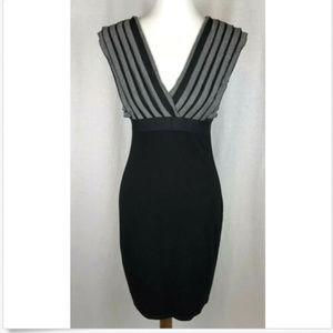 Sophie Max Dress Sz S Black Gray Bodycon New NWT